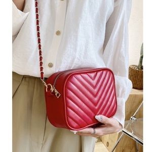 Shein Red Quilted Mini Bag-NWOT